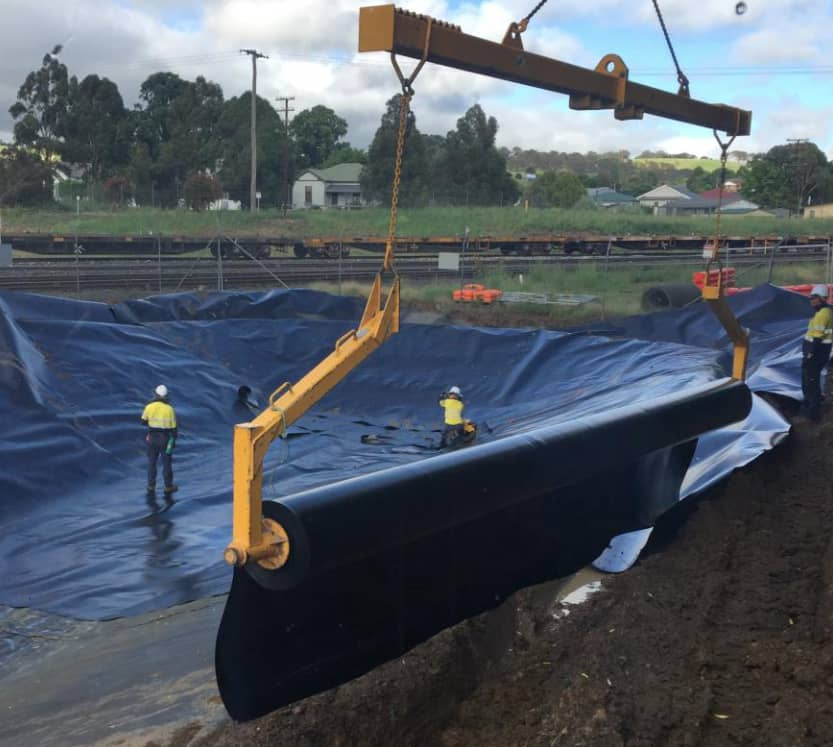 relining and cleaning dam